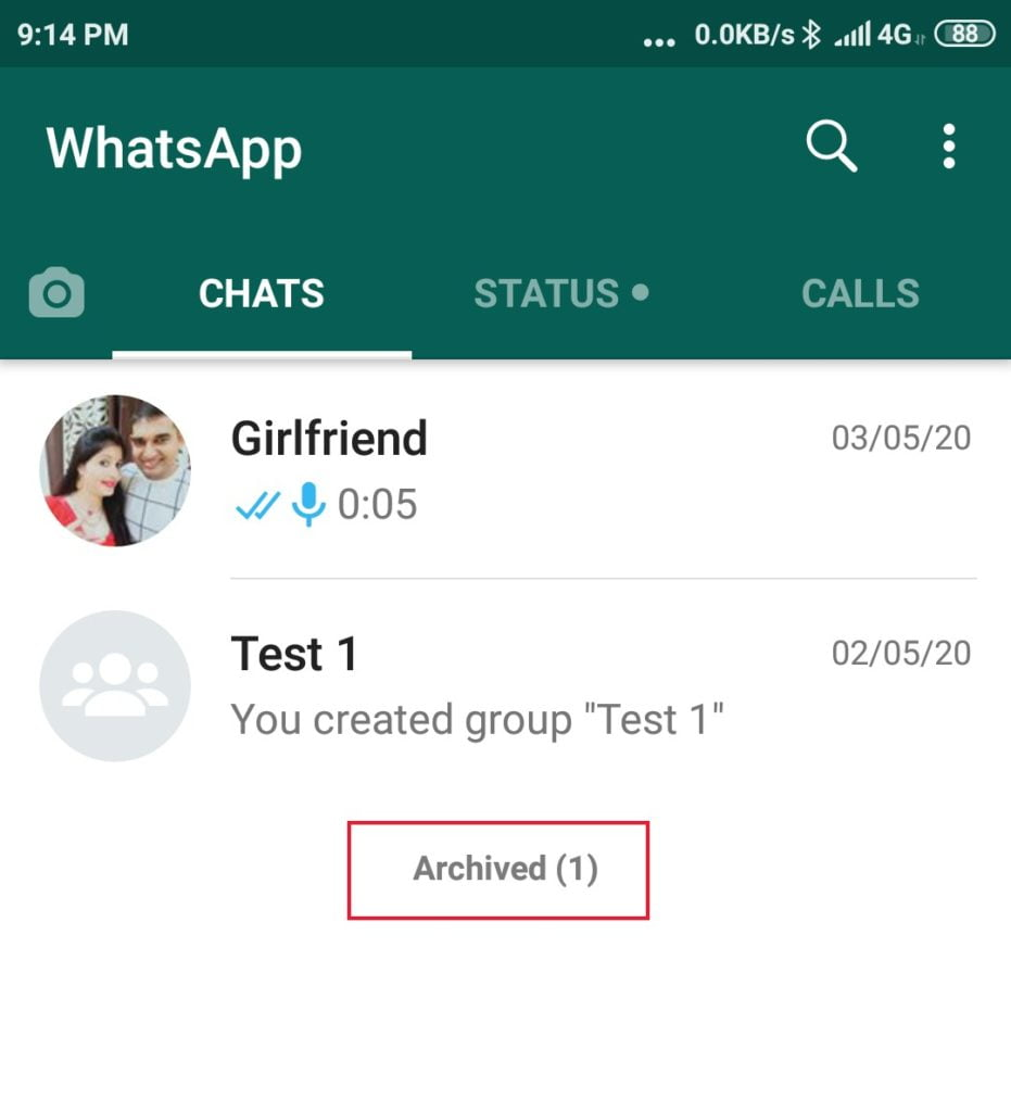 Hide WhatsApp chat without any software