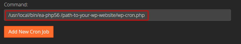 How to Disable wp-cron for Faster Performance - setting cron path