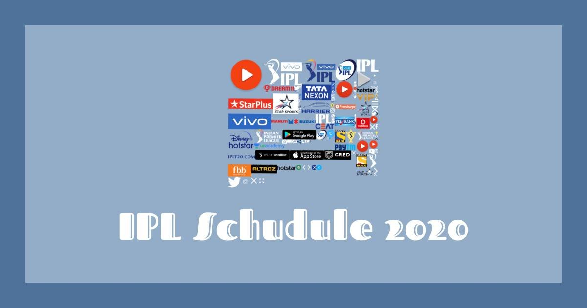 2020 IPL match schedule
