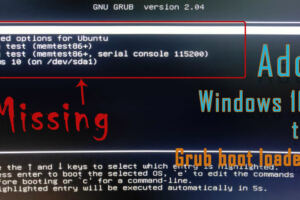 How to add Windows 10 to grub boot loader