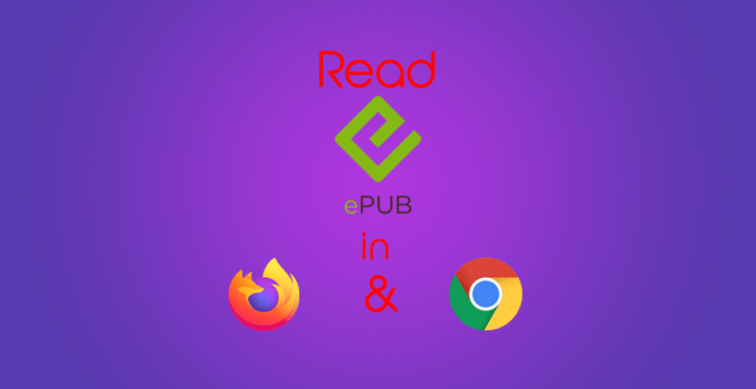Read ePub eBooks in Firefox and Chrome 1