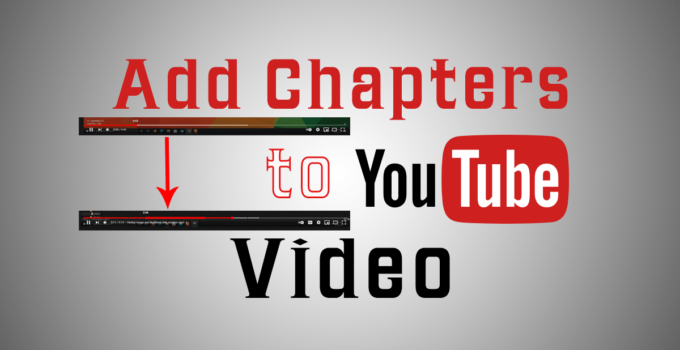 Add chapters to YouTube videos