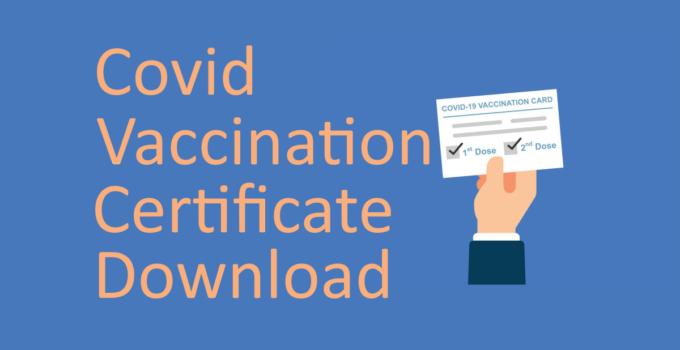 download covid 19 certificate
